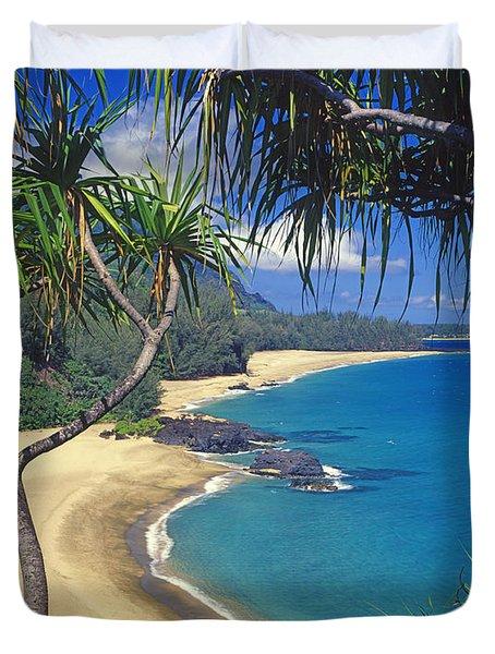 Lumahai Beach Duvet Cover