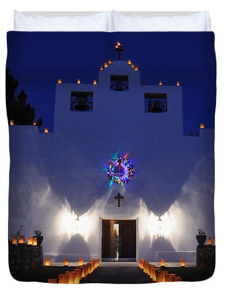 Luminarias At St Francis De Paula Duvet Cover