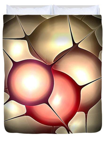 Luminous Orbs Duvet Cover by Anastasiya Malakhova