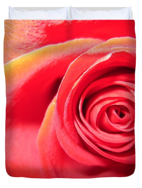 Luminous Red Rose 1 Duvet Cover