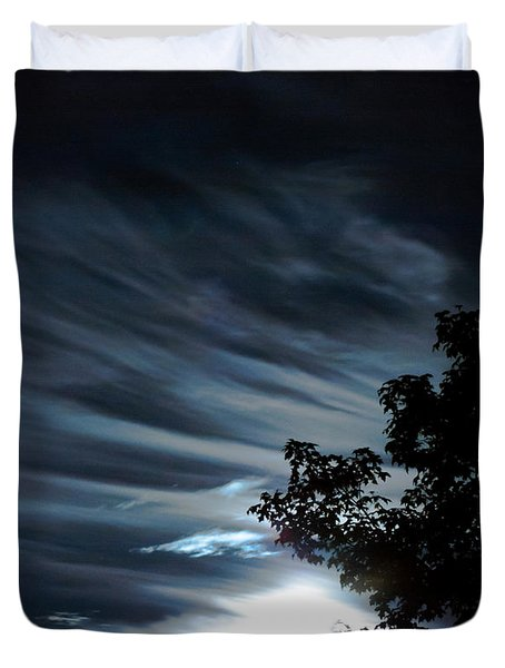 Lunar Art Duvet Cover by Optical Playground By MP Ray
