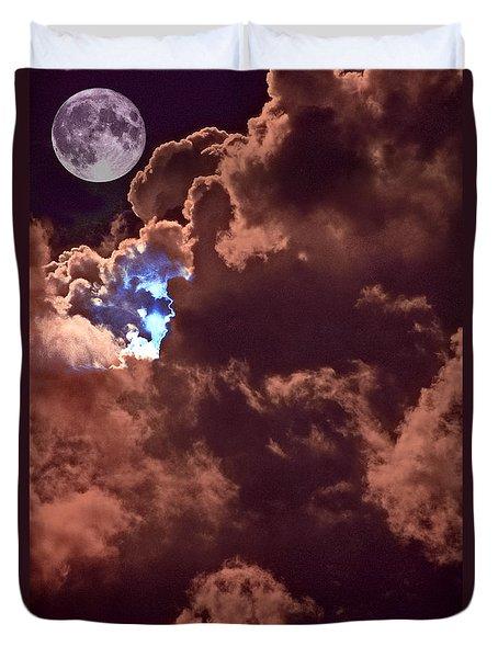 Lunar Presence Duvet Cover