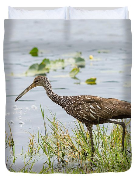 Lunching Lurching Limpkin Duvet Cover by John M Bailey