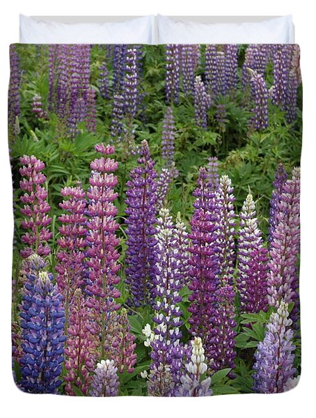 Lupine Mix Duvet Cover