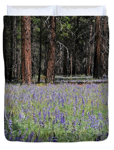 Duvet Cover featuring the photograph Lupines In Yosemite Valley by Lynn Bauer