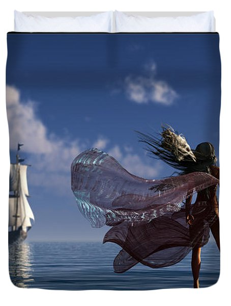 Lure Of The Siren... Duvet Cover by Tim Fillingim