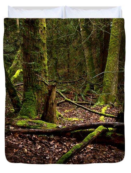 Lush Green Forest Duvet Cover