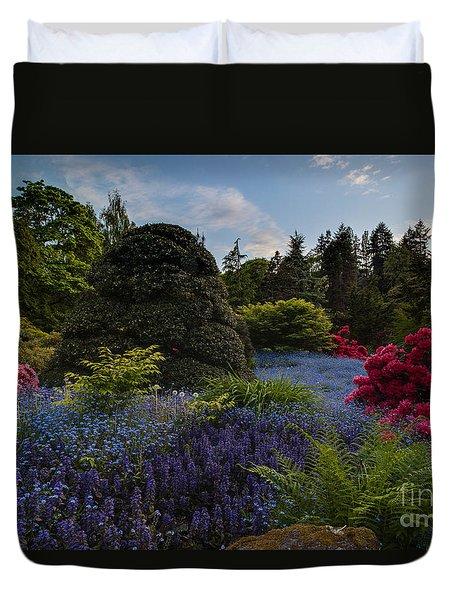 Lush Kubota Spring Landscape Duvet Cover by Mike Reid