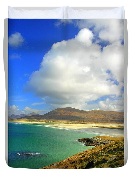 Luskentyre Beach  Duvet Cover by The Creative Minds Art and Photography