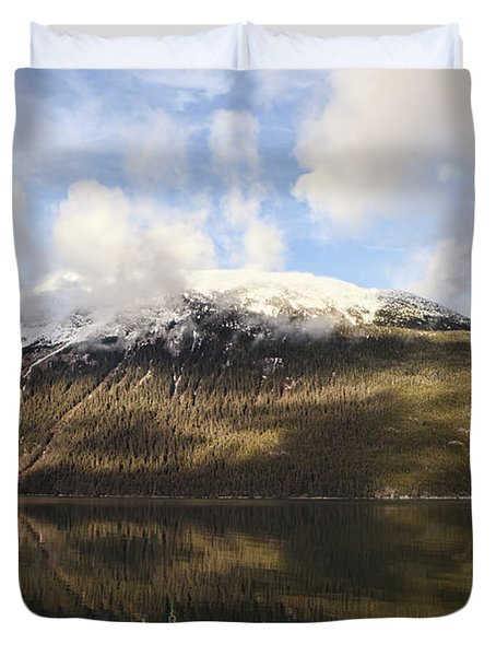 Lutak Inlet Reflections Duvet Cover