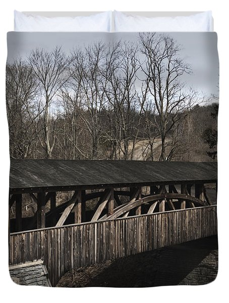 Luther's Mill Covered Bridge Duvet Cover