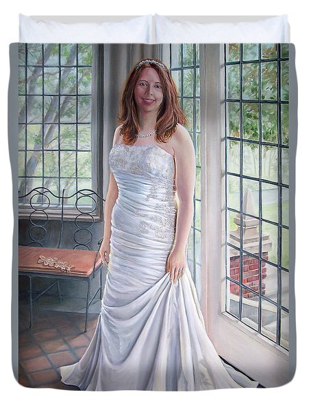 Lydia's Wedding Portrait Duvet Cover