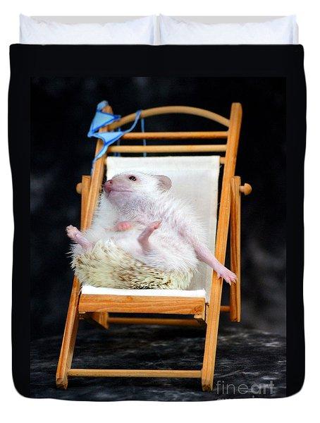 Lyla Sunbathing Duvet Cover by Paul  Wilford