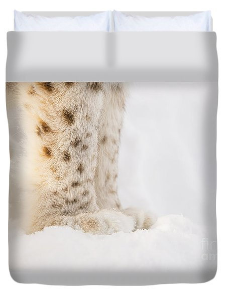 Lynx Feet Duvet Cover