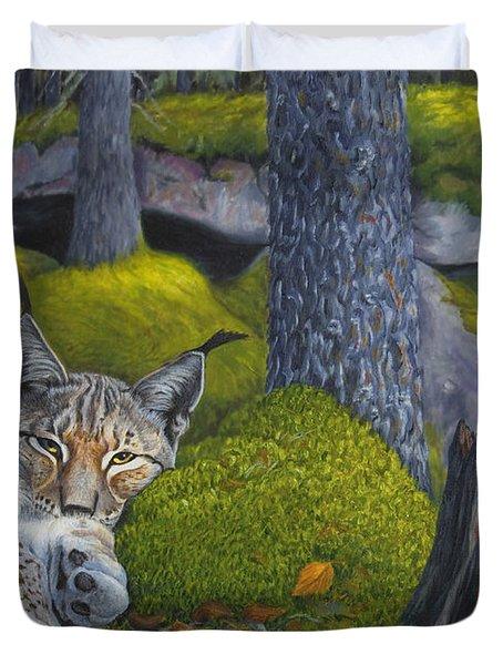 Lynx In The Sun Duvet Cover