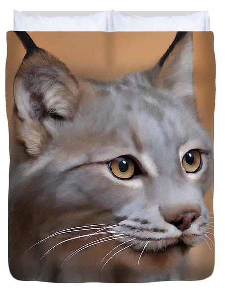Lynx Portrait Duvet Cover
