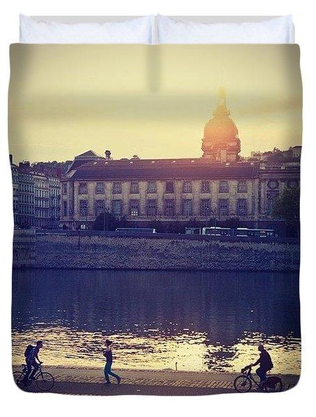 Lyon City- An Amazing Place! Duvet Cover