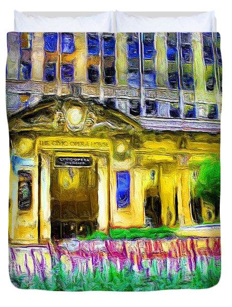 Lyric Opera House Of Chicago Duvet Cover