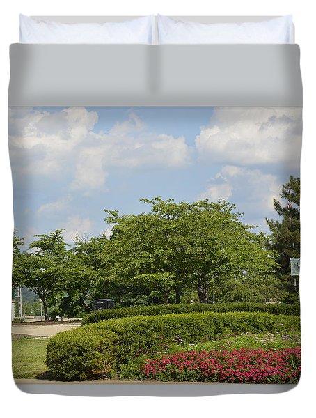 Lytle Park Cincinnati Duvet Cover by Kathy Barney