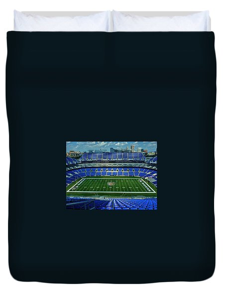 M And T Bank Stadium Duvet Cover by Robert Geary