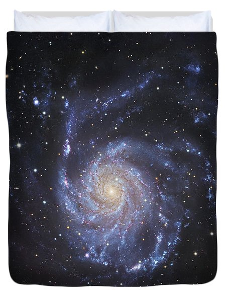 M101, The Pinwheel Galaxy In Ursa Major Duvet Cover by Robert Gendler