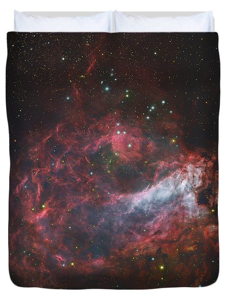 M17, The Omega Nebula In Sagittarius Duvet Cover