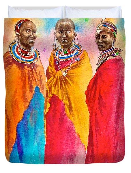 Maasai Life 14 Duvet Cover