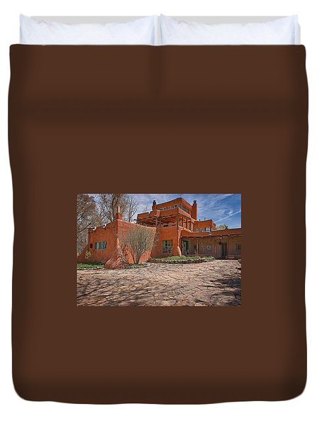 Mabel Dodge Luhan House  Duvet Cover by Charles Muhle