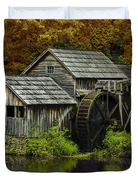 Mabry Mill In Autumn Duvet Cover