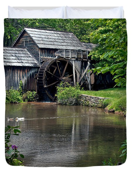 Mabry Mill In May Duvet Cover by John Haldane