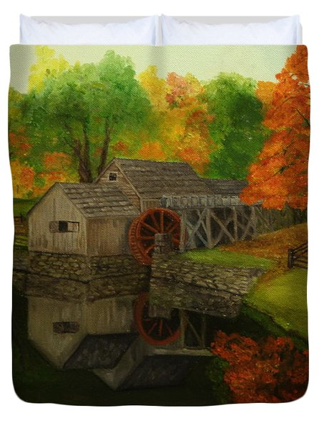 Mabry Mill Duvet Cover by Timothy Smith