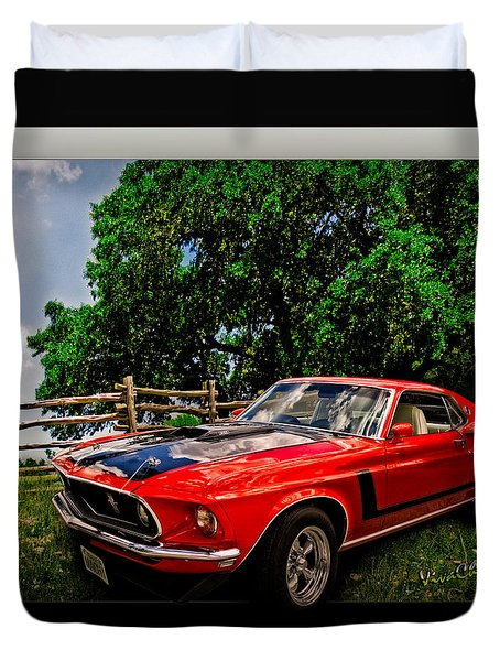 1969 Ford Mach 1 Mustang Duvet Cover