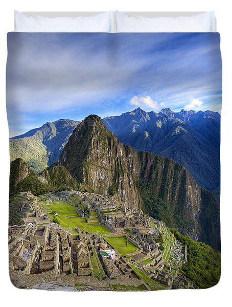 Machu Picchu Duvet Cover by Alexey Stiop