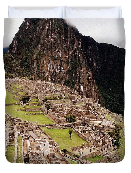 Machu Picchu Duvet Cover by Ramona Johnston