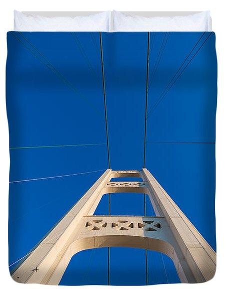 Mackinac Bridge South Tower Duvet Cover