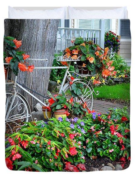 Mackinac Island Garden Duvet Cover