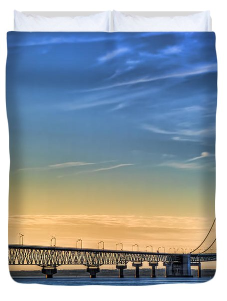 Mackinac Sunset Duvet Cover