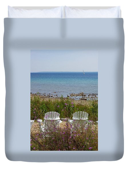 Mackinac View Duvet Cover