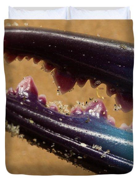 Macro Crab Claw Duvet Cover