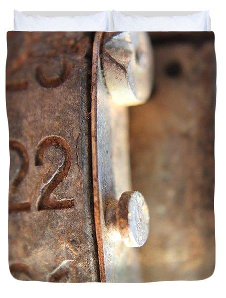 Macro Enigma Duvet Cover