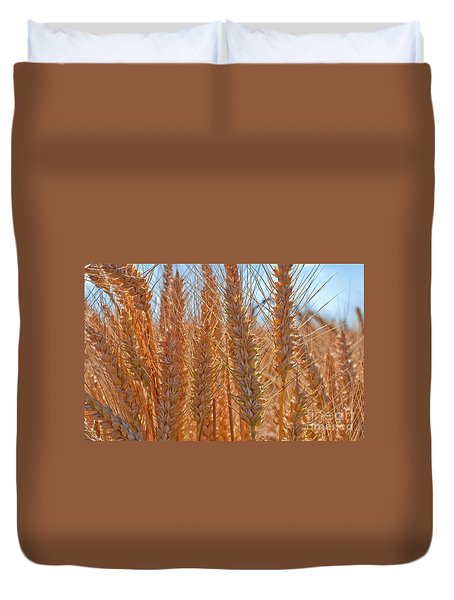 Duvet Cover featuring the photograph Macro Of Wheat Art Prints by Valerie Garner