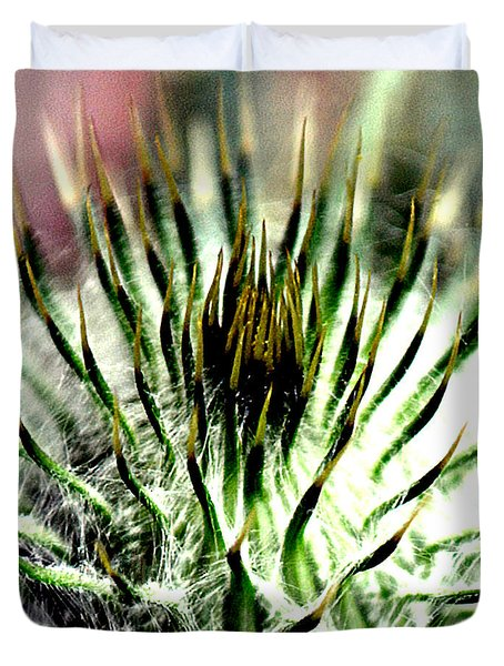 Macro Thistle  Duvet Cover by Jason Michael Roust