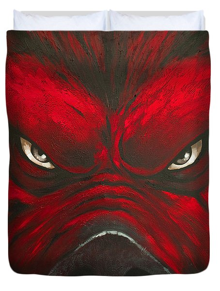 Mad Hog Duvet Cover