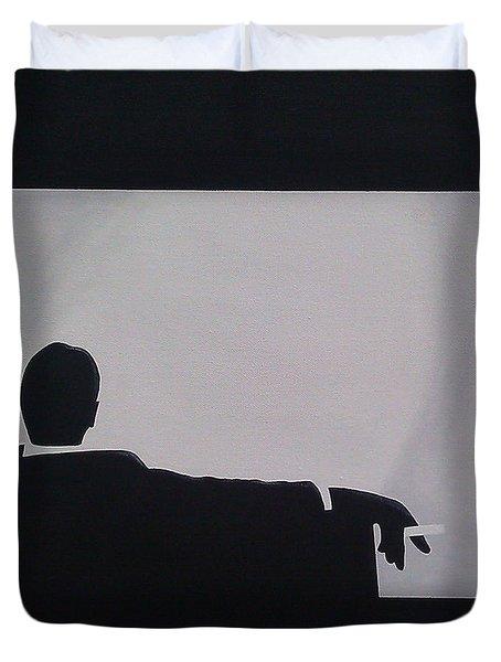 Mad Men In Silhouette Duvet Cover