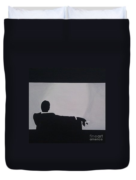 Mad Men In Silhouette Duvet Cover
