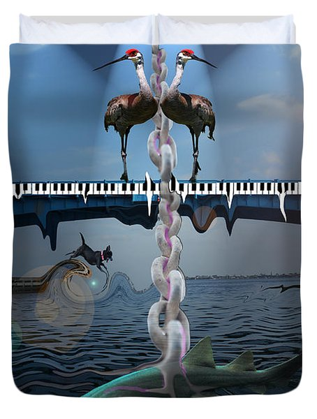 Mad World 18 - Untitled Duvet Cover by Amanda Vouglas