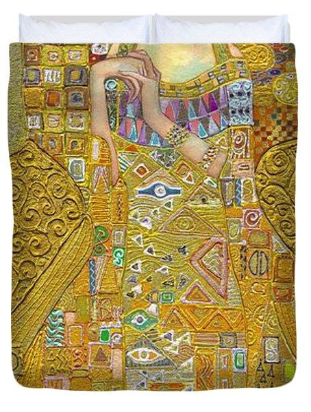 Madam Adele Bloch Bauer After Klimt Duvet Cover by Kate Bedell
