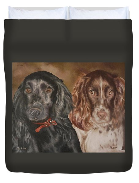 Maddie And Bisto Duvet Cover by Cherise Foster