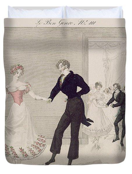 Mademoiselle Busc And Monsieur Corset Duvet Cover