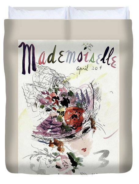 Mademoiselle Cover Featuring An Illustration Duvet Cover